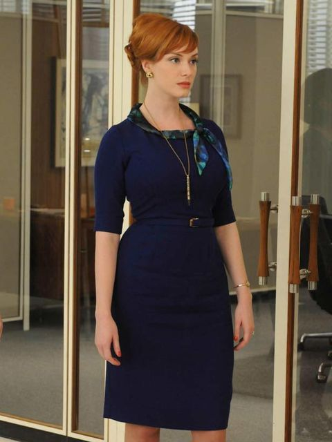 "<p><a href=""http://www.elleuk.com/content/search?SearchText=christina+hendricks&amp&#x3B;SearchButton=Search"">Christina Hendricks</a> as Joan Harris in a cinched waist dress by costume designer Janie Bryant for the American hit TV show <a href=""http://www.elle"