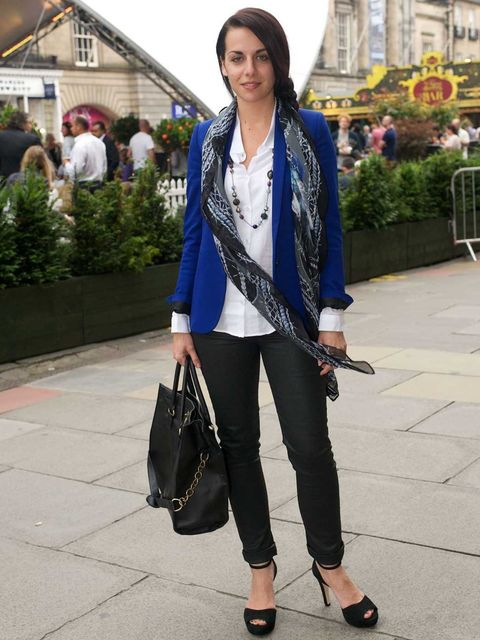 <p>Stephanie Asso, 28, Retail Assistant. Whole outfit by The Kooples, Primark bag.</p>