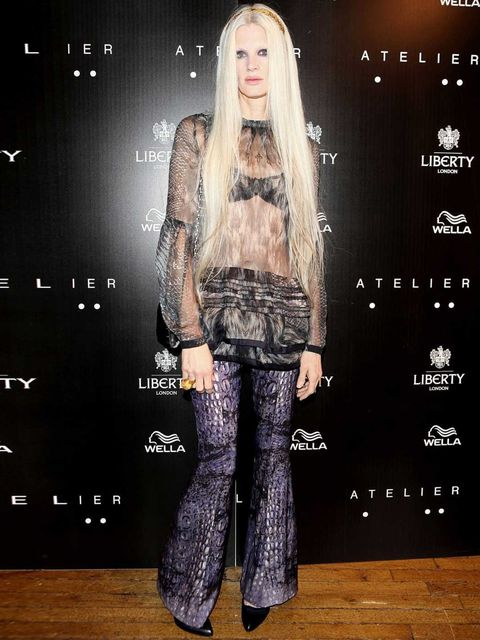 <p>Kristen McMenamy at Atelier Liberty launch, October 2012.</p>