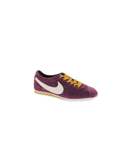 "<p>Nike burgundy suede trainers £65 at <a href=""http://www.asos.com/Nike/Nike-Lady-Cortez-Burgundy-Suede-Trainers/Prod/pgeproduct.aspx?iid=2394669&cid=6456&sh=0&pge=0&pgesize=-1&sort=-1&clr=Burgundy"">ASOS</a></p>"