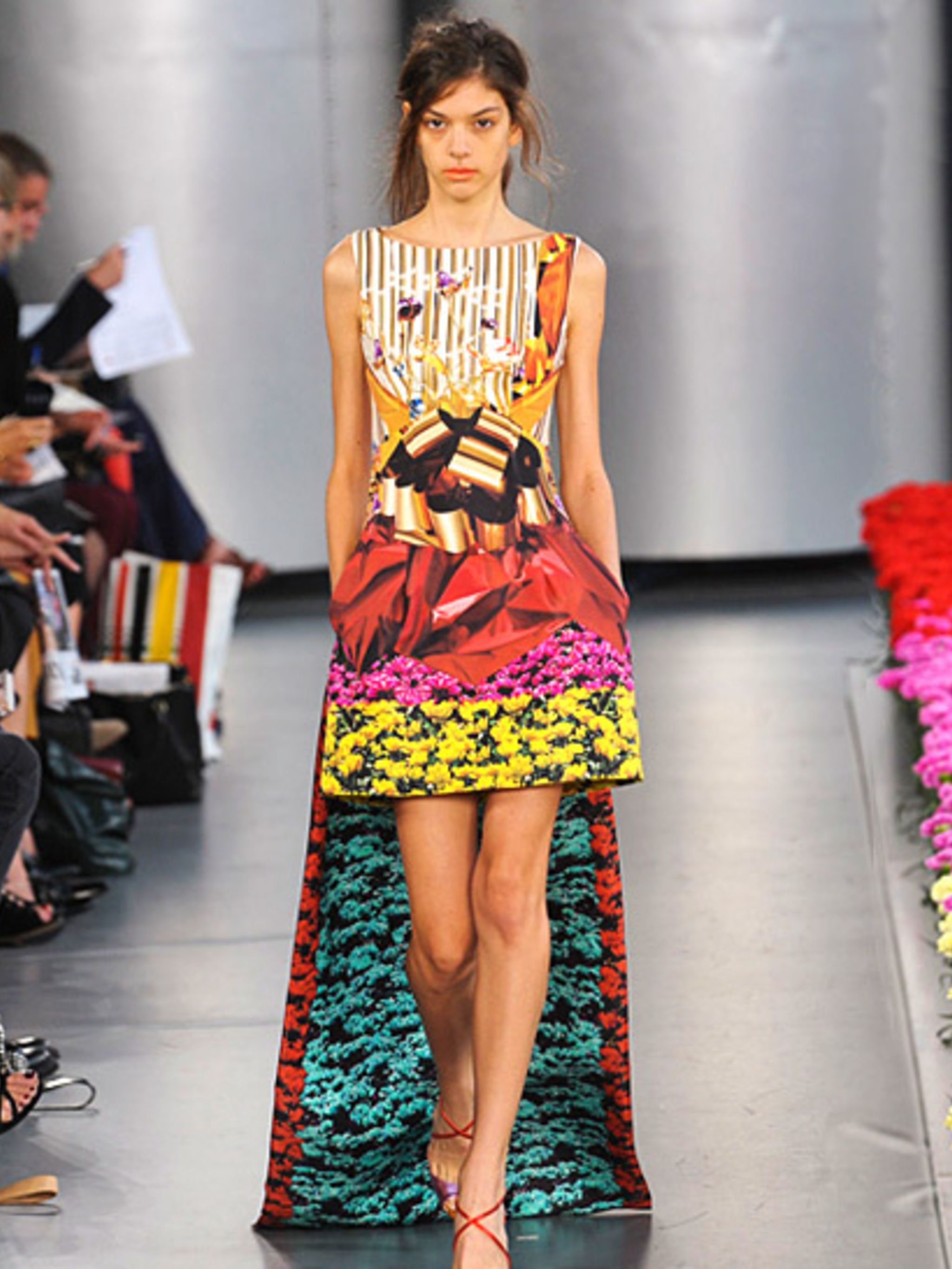 <p>Look 25 from Mary Katrantzou's spring summer 2013 collection</p>