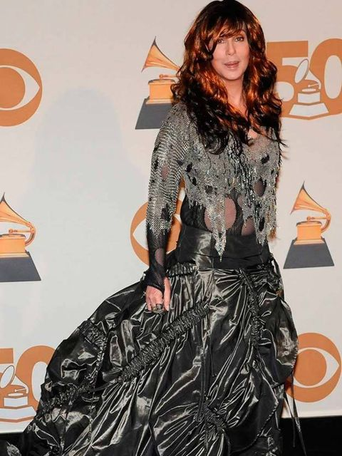 <p>Cher attends the 50th Annual Grammy Awards, 2008. </p>