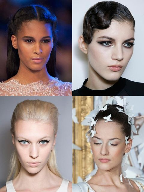 """<p>Beauty inspiration comes no better than fresh off the couture runway. Showcasing Gatsby-ready finger waves, clashing bold lips and several variations of the smoky eye, your SS14 make up bag is in for a treat…</p><p><a href=""""http://www.elleuk.com/catwal"""