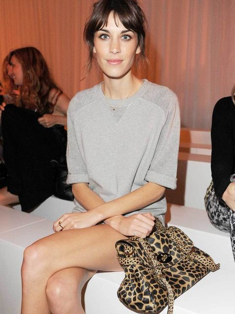 <p>British icon Alexa Chung on the front row at Mulberry's catwalk show</p>