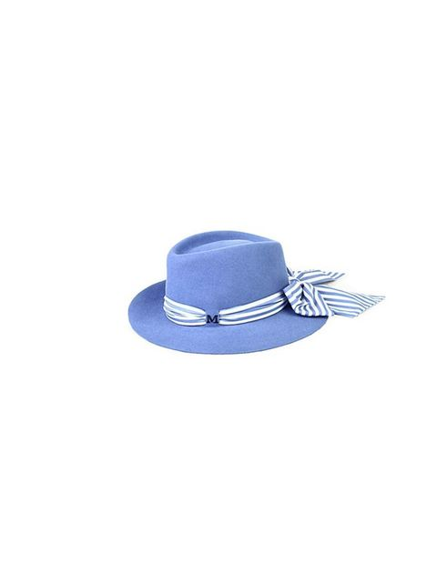 "<p>Not ready for full blown pastels? Give the trend a try with this cornflower blue hat.</p><p>Maison Michel hat, £405 at <a href=""http://www.selfridges.com/en/Womenswear/Categories/Shop-Accessories/Hats-gloves/Andre-striped-scarf-felt-hat_238-3003125-PS1"