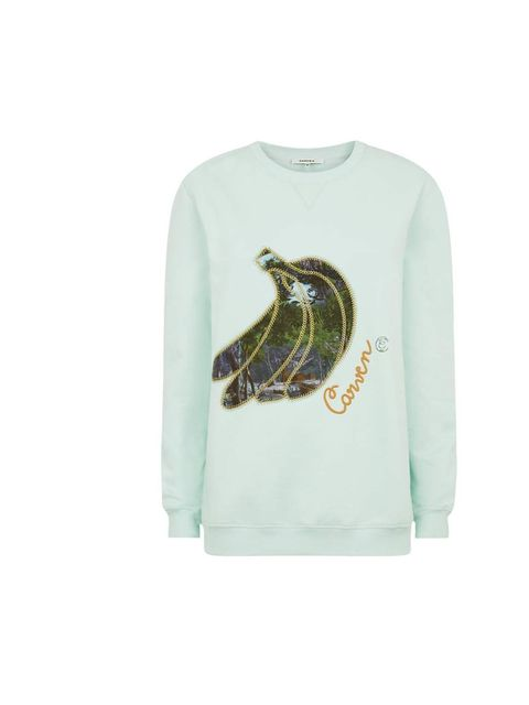 "<p>Go bananas for this off-beat knit.</p><p>Carven sweatshirt, £180 at <a href=""http://www.harrods.com/product/banana-sweater/carven/000000000003574402"">Harrods.com</a></p>"