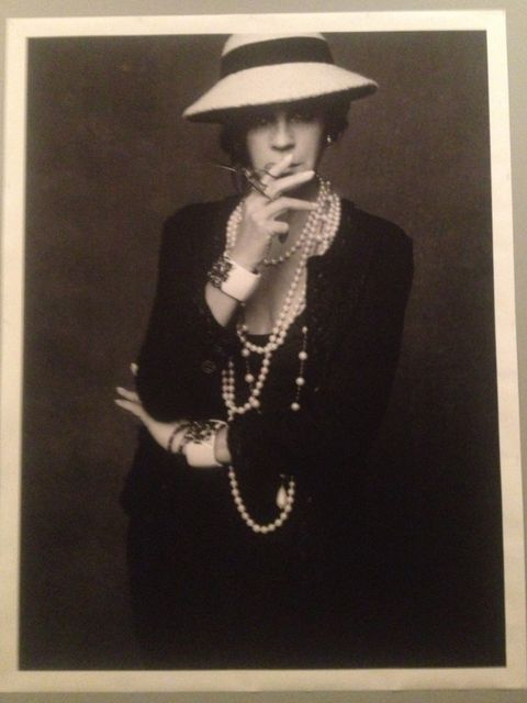 <p>Carine Roitfeld as Coco Chanel</p>
