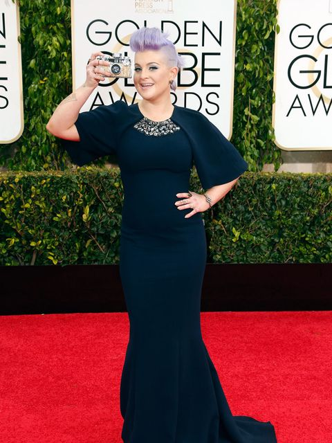 "<p><a href=""http://www.elleuk.com/tags/kelly-osbourne"">Kelly Osbourne</a> in Christian Siriano at the Golden Globe Awards, 2015.</p>"