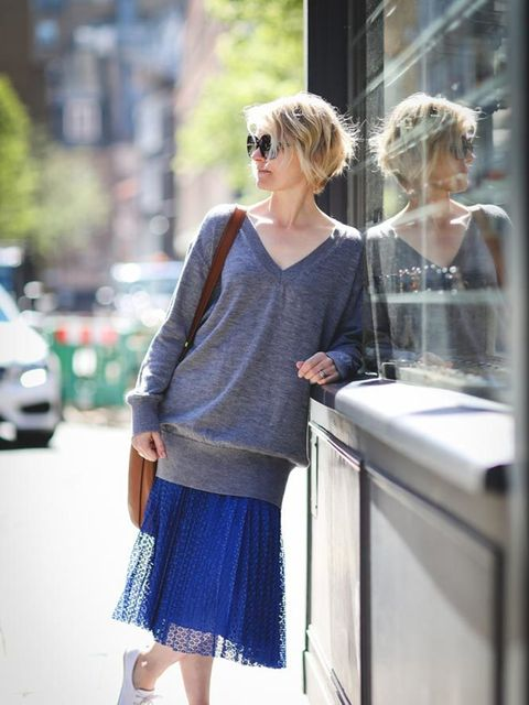 <p>Lorraine Candy, Editor-In-Chief</p><p>MiH sweater, Marks &amp&#x3B; Spencer skirt, Office shoes, Coach bag, Tom Ford sunglasses</p>