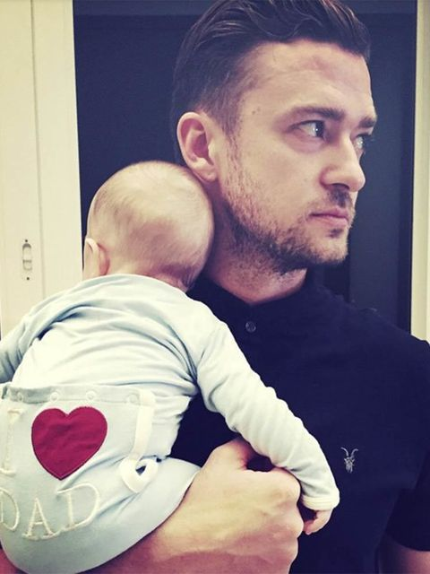 Justin Timberlake (@justintimberlake)'FLEXIN' on Fathers Day...#HappyFathersDay to ALL of the Dads out there from the newest member of the Daddy Fraternity!! --JT'