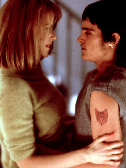 Nicole Kidman with a bruiser of a teen Joaquin.