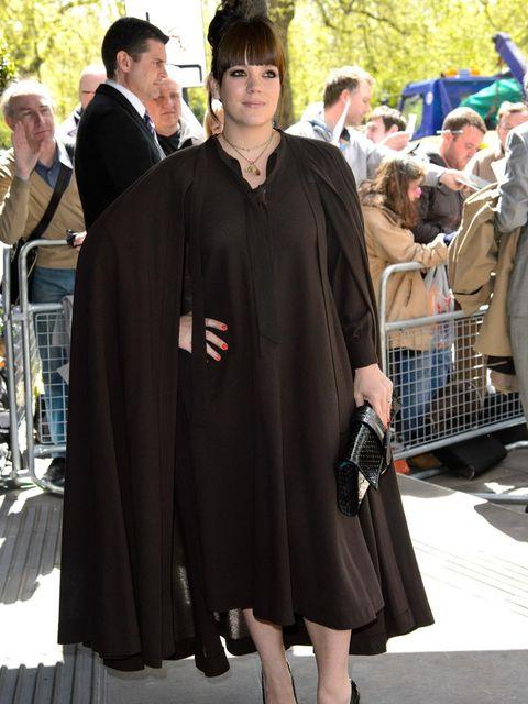 <p>Lily Cooper arrives for the Ivor Novello Awards 2013</p>