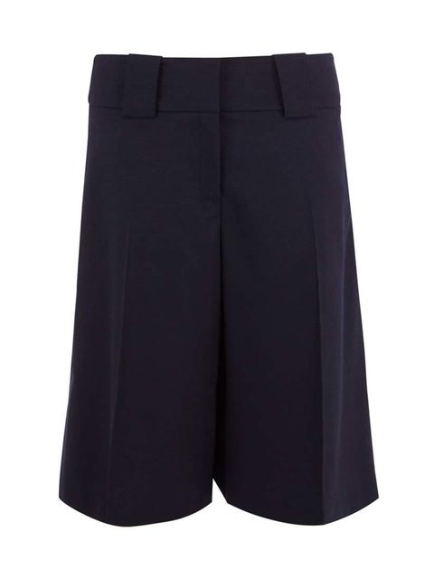 <p>Tuck a fine-knit jumper into culottes for a modern take on workwear.</p>