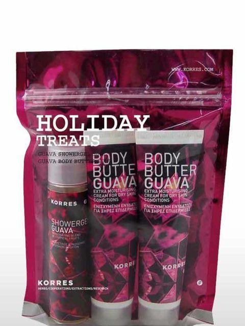 "<p>Korres Holiday Treats, £12 <a href=""http://www.harveynichols.com/beauty/categories/gifts-sets/women/s341471-holiday-treats.html"">Harvey Nichols</a></p>"