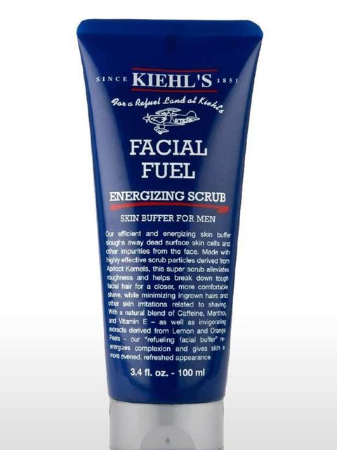 <p>Men need a face scrub to slough away those dead skin cells just like we do. A weekly buff will keep the complexion fresh and clear. Containing crushed apricot kernels and polyethylene beads this offers a strong scrubbing effect (men's skin is 16% thick