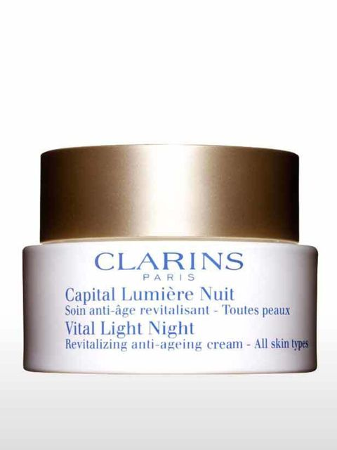 <p>At night your skin repairs itself, so what you put on your face before bedtime is crucial to enhancing that process. Clarins new Vital Light Night cream, £60.26, is a new weightless version of Vital Light Night that is currently the 9th best selling pr