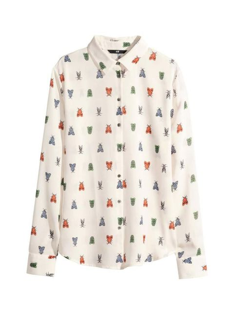 """<p>Head of Editorial Business Management Debbie Morgan couldn't resist this workwear classic with a twist.</p>  <p><a href=""""http://www.hm.com/gb/product/48748?article=48748-A"""" target=""""_blank"""">H&M</a> shirt, £14.99</p>"""