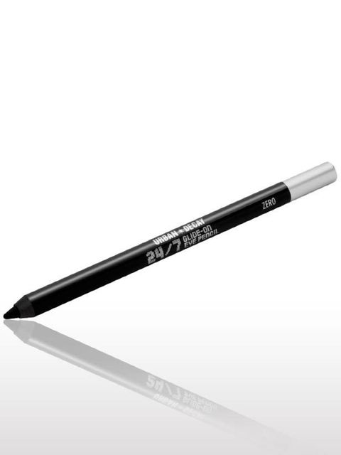 <p>This soft, smudgy pencil is easy to apply - blend with your fingers for a soft smoky eye.Urban Decay 24/7 Glide-on Eye Pencil in Zero, £9</p>
