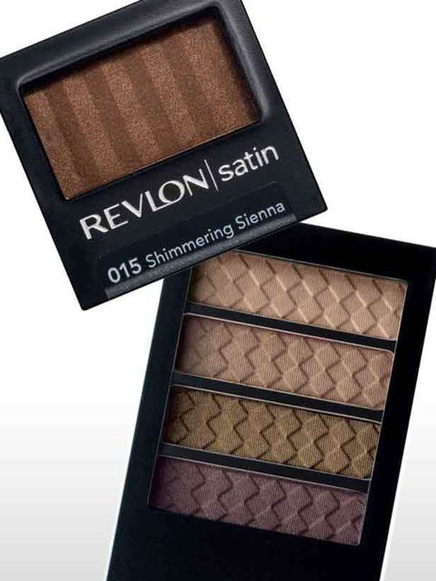 <p>ELLE's favourite brown eye look was smouldering on models at Roberto Cavalli. To recreate the look you need Revlon's Colorstay in Neutral Khakis.Use the golden hue all over the eyelid and under the lashline; then blend the green shade into the crease.