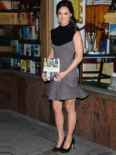 "<p>Pippa Middleton in <a href=""http://www.elleuk.com/catwalk/designer-a-z/stella-mccartney/spring-summer-2013"">Stella McCartney</a> at the launch of her book, 'Celebrate', October 2012.</p>"