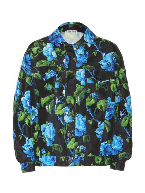 "<p>Miu Miu jacket, £1,150, at <a href=""http://www.mytheresa.com/en-gb/printed-silk-twill-jacket.html"">mytheresa.com</a></p>"