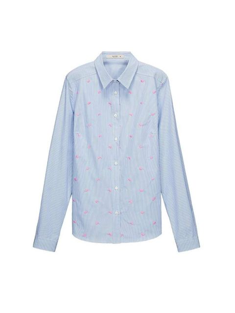 "<p>Boyish blue pinstripes with a subversive pink paisley twist.</p><p><a href=""http://www.etro.com/en_uk/woman/spring-summer-14/shirts/141d1535761320250.html"">Etro</a> shirt, £195</p>"