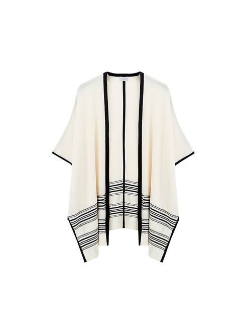 "<p><a href=""http://www.johnlewis.com/jigsaw-summer-blanket-poncho/p1917703?imageCount=1"" target=""_blank"">Jigsaw</a> poncho, £129 available at johnlewis.com</p>"