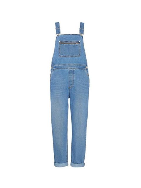 """<p>Layer over a printed silk shirt, or this season's fine-knit rollneck.</p><p><a href=""""http://www.whistles.com/women/clothing/jeans/slim-denim-dungarees-20093.html?dwvar_slim-denim-dungarees-20093_color=Denim#"""" target=""""_blank"""">Whistles</a> dungarees, £"""