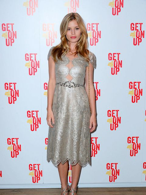 Georgia May Jagger attends the Get on Up film screening in Manchester September 2014.