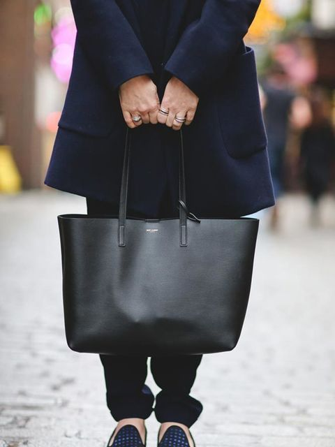 Lorraine Candy, Editor-in-Chief Raey @ Matches Fashion coat, Topshop gillet, Whistles trousers, Dior shoes, Saint Laurent bag