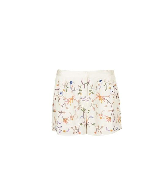 """<p>Fashion Features Assistant Jules Kosciuczyk has her eye on these embroidered floral shorts&#x3B; pair with a tucked-in white vest or loose denim shirt.</p><p><a href=""""http://www.topshop.com/en/tsuk/product/clothing-427/shorts-448/embroidered-floral-short-20"""