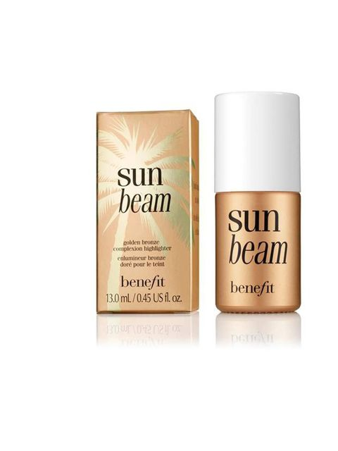 "<p><a href=""http://www.benefitcosmetics.co.uk/product/view/sun-beam"">Benefit Sunbeam Complexion Highlighter, £19.50</a></p><p>Dab on your cheeks, above your brow for a glowing complexion or mix a little with your body moisturiser for a subtle shimmer for"