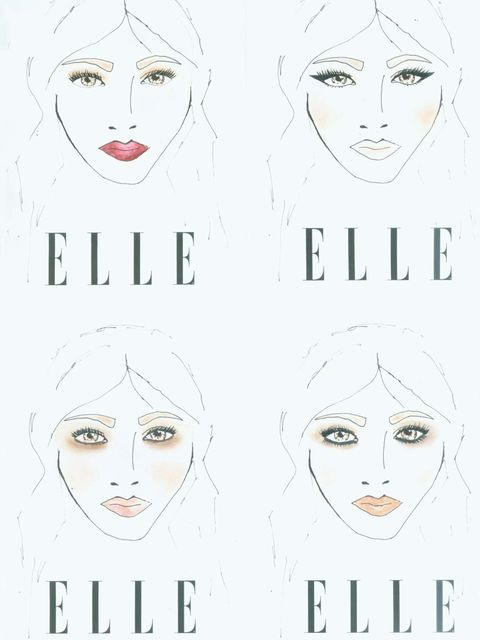 "<p>After discussing the looks ELLE wanted to showcase, <a href=""http://www.nicolas-degennes.com/"">Nicolas Degennes</a> took to his kit bag and sketched out four striking faces: The Vamp Lip, Strong Liner, The Sixties and Make It Mocha </p><p>Read on for o"