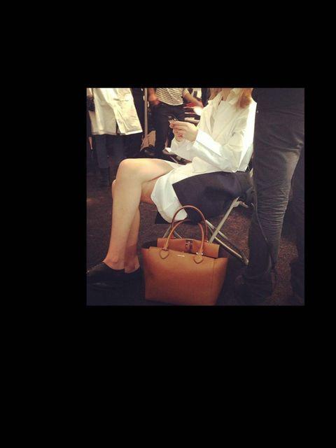 <p>That's a @MichaelKors handbag that MK model is carrying... But of Kors! #allaccesskors </p>