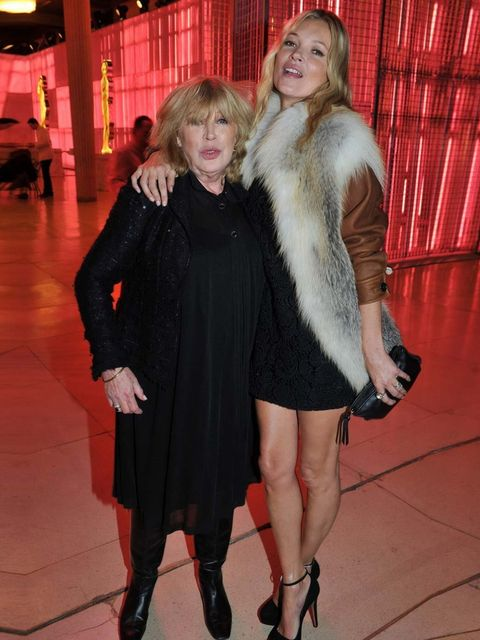 <p>Kate Moss and Marianne Faithfull at the opening party for Prada's 24 Hours Museum</p>
