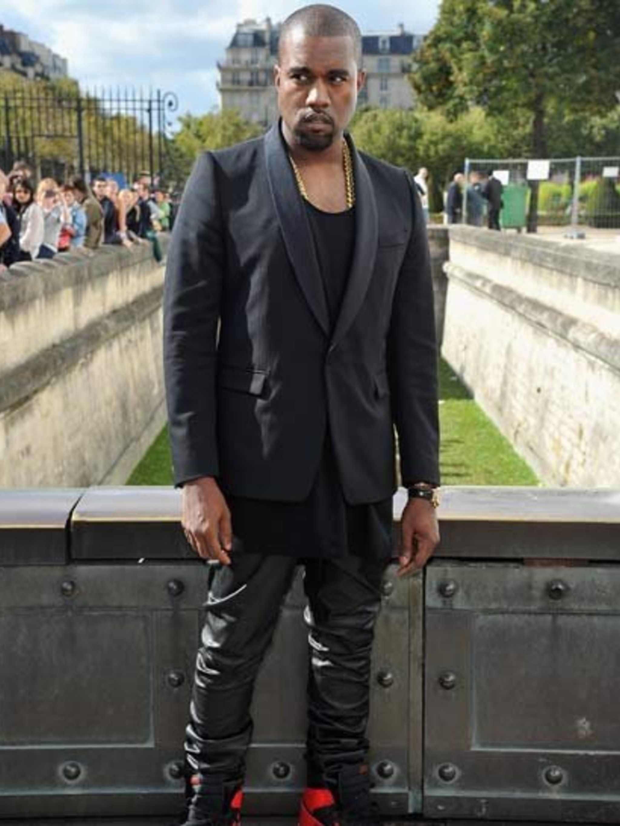 <p>Kanye West at Christian Dior Spring Summer 2013 Front Row </p>