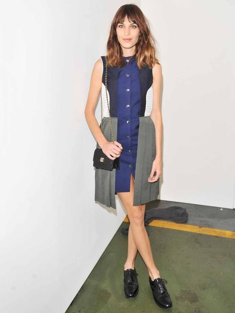 <p>Alexa Chung in JW Anderson during London Fashion Week, February 2012.</p>