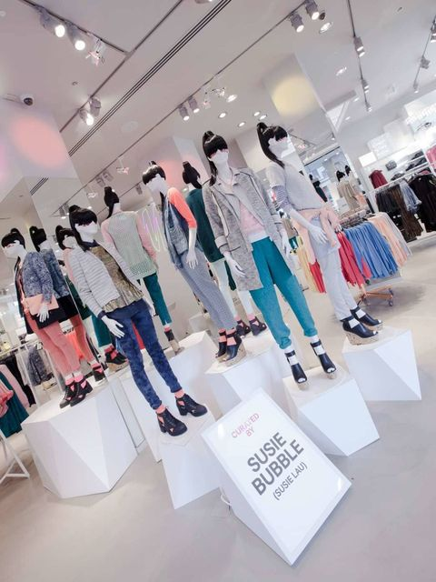 <p>Inside the H&M store</p>