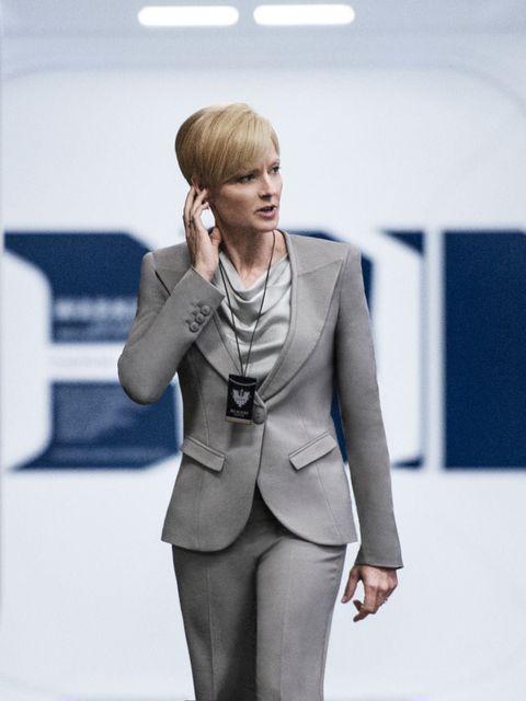 <p>Jodie Foster wears Giorgio Armani in Elysium</p>