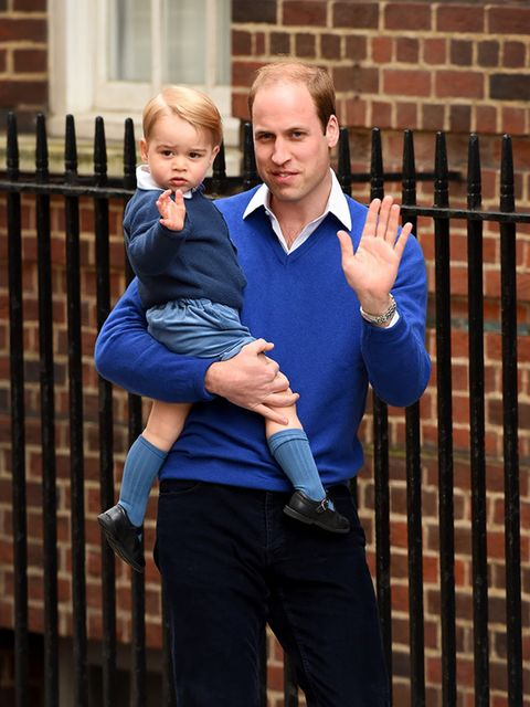 Prince William taking Prince George to meet his new sister.