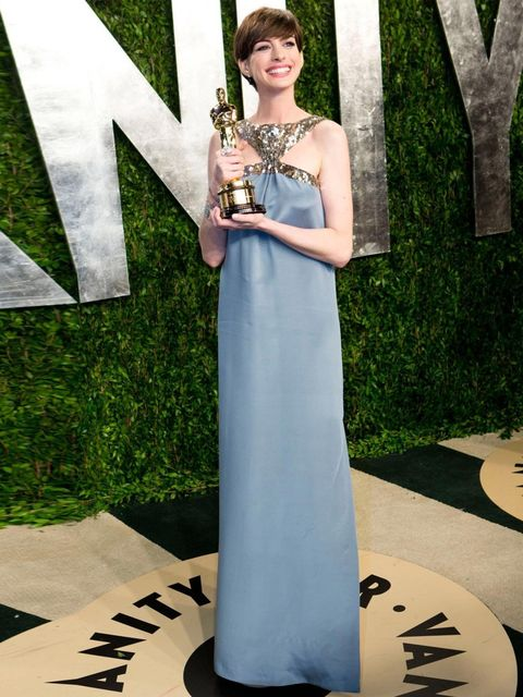 """<p><a href=""""http://www.elleuk.com/star-style/celebrity-style-files/anne-hathaway-s-best-looks"""">Anne Hathaway</a> in Saint Laurent</p>"""