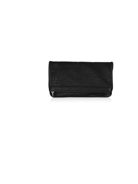 """<p>Alexander Wang 'Dumbo' fold-over textured leather clutch, £460, at <a href=""""http://www.net-a-porter.com/product/189206"""">Net-a-Porter</a></p>"""