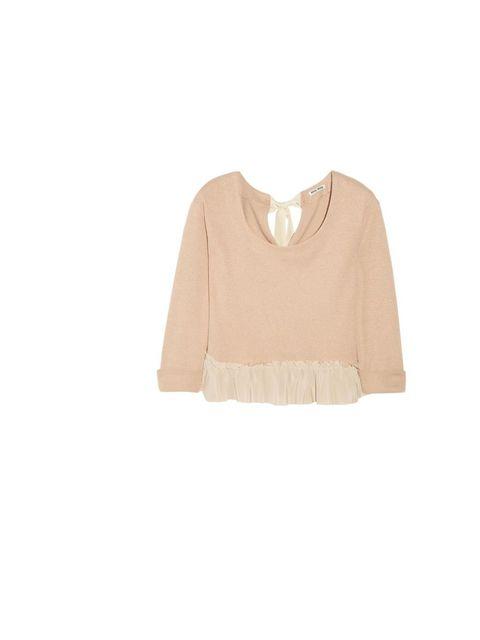 "<p>Miu Miu cropped sweater, £265, at <a href=""http://www.net-a-porter.com/product/185144"">Net-a-Porter</a></p>"