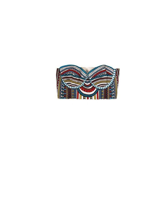 "<p>Mara Hoffman tribal print bralet, £130, at <a href=""http://www.shoplesnouvelles.com/solo2/dev/page/load/96/c/3/details/1309/product/embroidered-bustier-top?"">Les Nouvelles</a></p>"