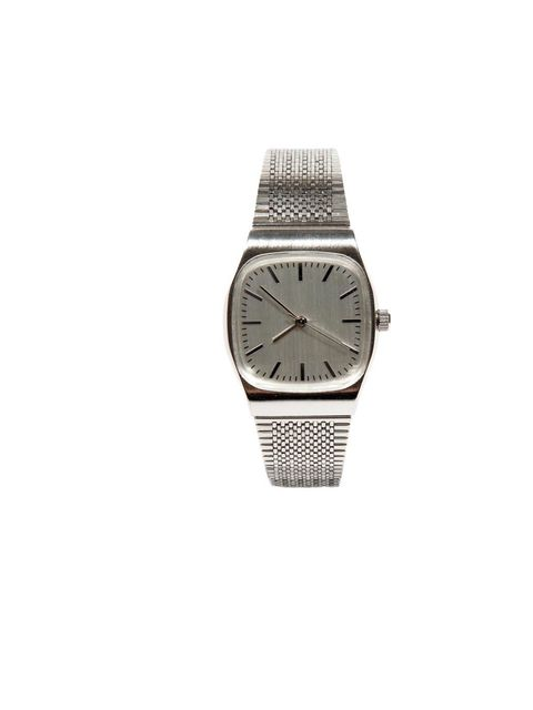 """<p><a href=""""http://www.urbanoutfitters.co.uk/retro-metal-watch/invt/5769462453902/&bklis"""">Urban Outfitters</a> retro watch, £34</p>"""