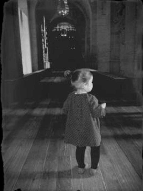 <p>Harper Beckham tests out the catwalk</p>