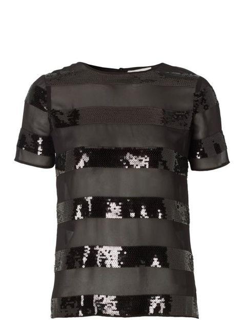 <p>Jonathan Saunders/Edition at Debenhams sequin T-shirt, £48, at Debenhams, for stockists call 08445 616161</p>