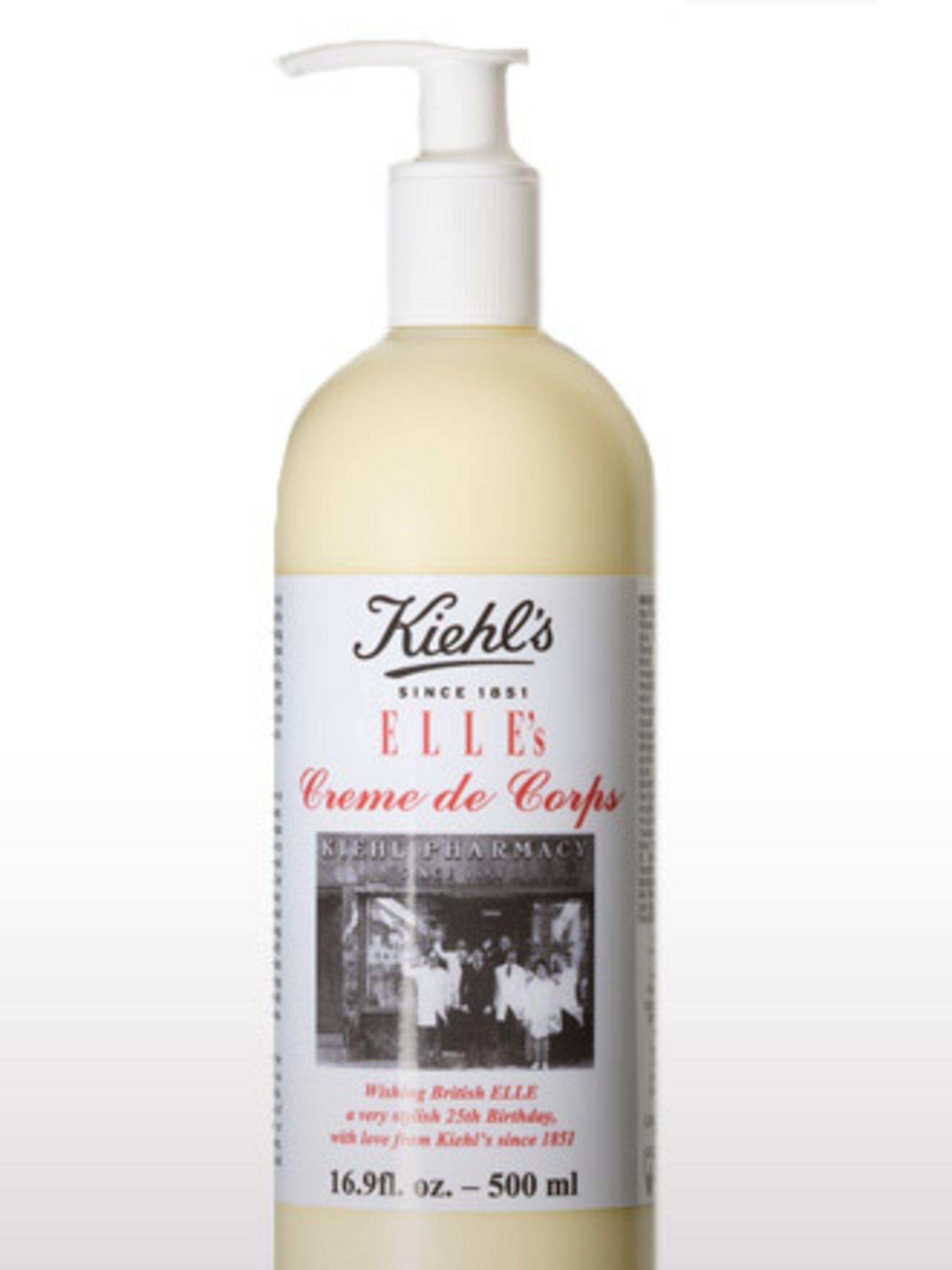 <p>This is a cult beauty product, which is why Team ELLE was so pleased to have the brand make a limited-edition bottle in the magazine's honour. Rich and luxurious, we promise you'll be hooked.</p><p>Happy Birthday ELLE Crème de Corps, £43 by Kiehl's</p>