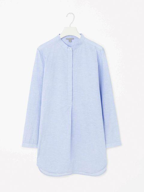 "<p><a href=""http://http://www.cosstores.com/gb/Women/New/Cotton_and_linen_shirt/365246-23532508.1#c-22755"" target=""_blank"">Cos shirt</a>, £55</p>"
