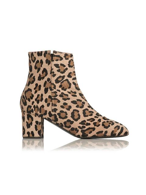 """<p>Bored of wearing black? Swap your winter boots for these leopard print fellas, and give your whole wardrobe a lift.</p>  <p><a href=""""http://www.lkbennett.com/Shoes/Boots/Simi-Haircalf-Ankle-Boot/p/SBSIMIHAIRCALFPrintedLeopard"""" target=""""_blank"""">L.K. Benn"""